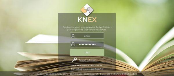 KnEx sustav - Gimnazija Gaudeamus v3.0