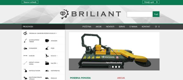 Briliant d.o.o. - veleprodaja, uvoz i distribucija poljoprivrednih strojeva i komunalne opreme, alata te servis i održavanje